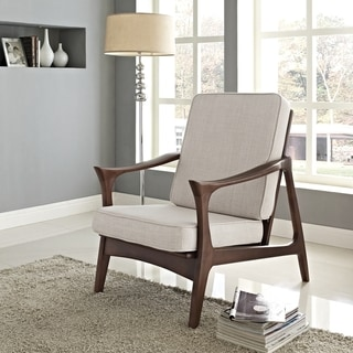 Canoe Brown Wood Lounge Chair
