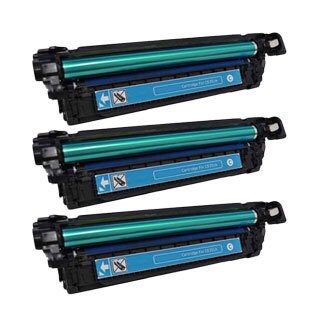 HP CE251A (HP 504A) Compatible Cyan Toner Cartridges (Pack of 3)