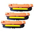 HP CE262A (HP 648A) Compatible Yellow Toner Cartridges (Pack of 3)