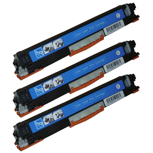HP CE311A (126A) Compatible Cyan Toner Cartridges (Pack of 3)
