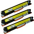 HP CE312A (126A) Compatible Yellow Toner Cartridges (Pack of 3)