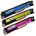 HP CE311A (126A) Compatible Cyan, Yellow, Magenta Toner Cartridges (Pack of 3)