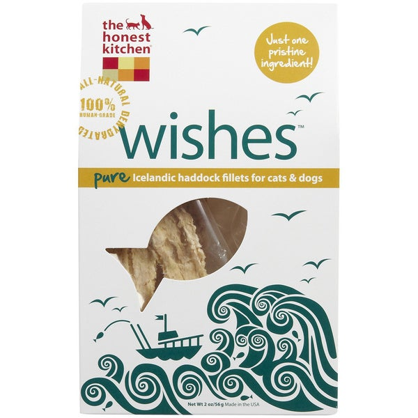 The Honest Kitchen Wishes Natural Icelandic Haddock Fillet Dog/ Cat Treats (2 Pack)