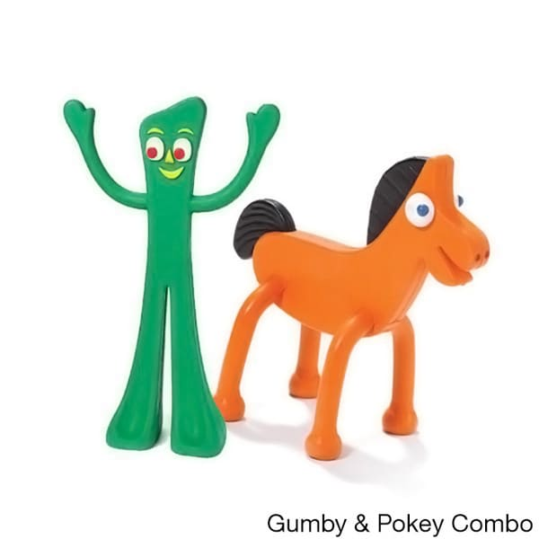 Multipet Rubber Gumby and Pokey Dog Toys