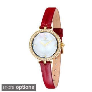 Klaus Kobec Women's 'Angel' Leather Strap Watch