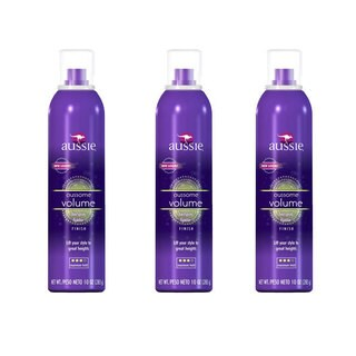 Aussie Aussome Volume Maximum Hold 10-ounce Hairspray (Pack of 3)