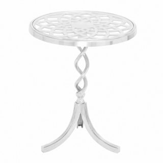 Transparent Glass Accent Table with Shiny Finish