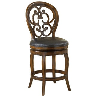 Alexandra Black Leather Stool