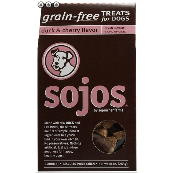 Sojos 100 Natural Grain-free 10-ounce Dog Treats