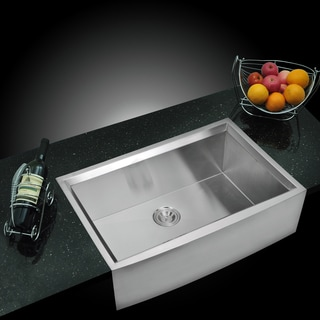 Water Creation Single Bowl Stainless Steel Apron Front Kitchen Sink (33 x 21 inches)
