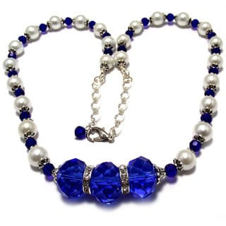 Sapphire Blue Crystal Wedding Jewelry Set