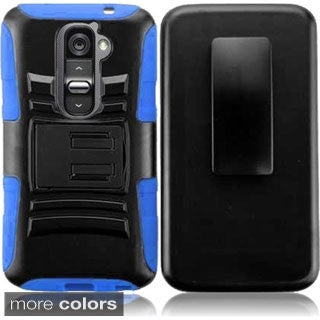 INSTEN Holster Phone Case Cover with Stand for LG G2
