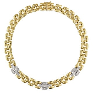 Miadora Signature Collection 14k Yellow Gold Two-Tone 1ct TDW Diamond Necklace (G-H, SI1-SI2)