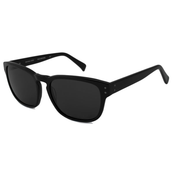 Michael Kors Men's Black-and-Gray MKS249M Martin Rectangular Sunglasses