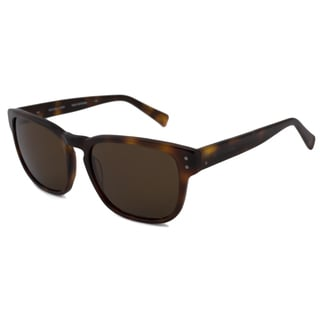 Michael Kors Men's Tortoise-and-Brown MKS249M Martin Rectangular Sunglasses