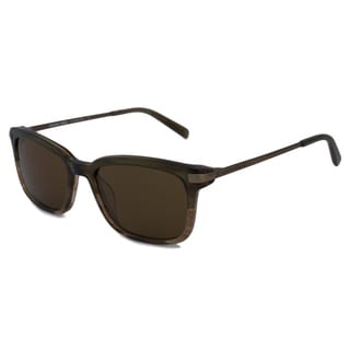 Michael Kors Men's MKS350M Carter Brown Rectangular Sunglasses