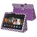 BasAcc Purple/ White Dot Stand Leather Case for Amazon Kindle Fire HDX 8.9-inch