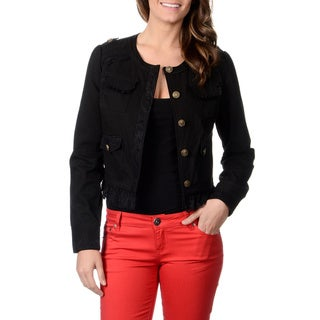CoffeeShop Juniors Black Button-front Jacket