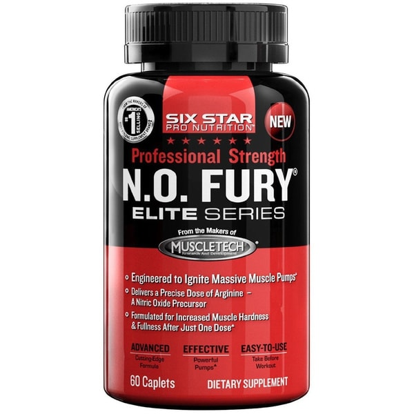 Six Star Pro Nutrition Professional Strength N.O. Fury Caplets (60 Count)