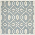 Safavieh Handmade Moroccan Chatham Contemporary Blue/ Ivory Wool Rug (5' Square)