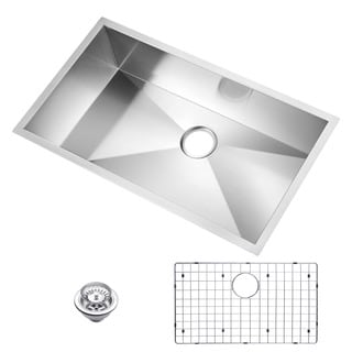 Water Creation Single Bowl Undermount Kitchen Sink (33 x 19 inches)