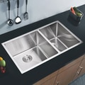 Water Creation 50/50 Double Bowl Undermount Kitchen Sink (33 x 20 inches)