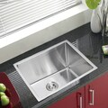 Water Creation Single Bowl Stainless Steel Undermount Kitchen Sink (23 x 20 inches)