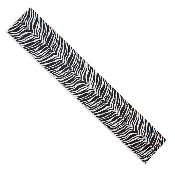 "Zebra 18"" x 54 "" Non-Slip Pet Bowl Mat/Runner"