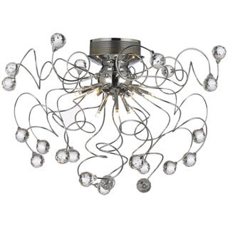 Gallery 9-light Chrome/ Crystal Chandelier Light Fixture
