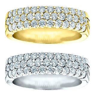 14k Gold 1ct TDW Multi Row Prong-set Diamond Ring (H-I, I1-I2)
