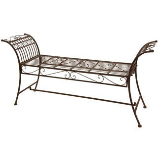 Rust Patina Rustic Decorative Garden Bench (China)