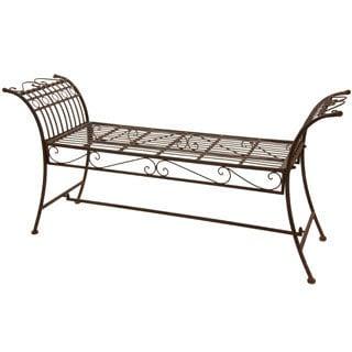Rust Patina Rustic Decorative Garden Bench (China)