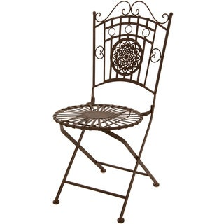 Rust Patina Wrought Iron Garden Chair (China)