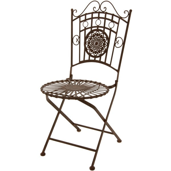 rust patina wrought iron garden chair china 15924498