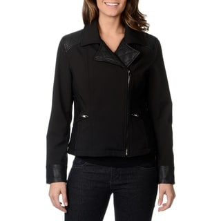 Mo-Ka Women's Black Quilted Moto Fashion Jacket