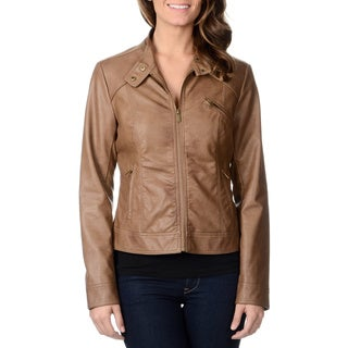 CoffeeShop Juniors Chestnut Leatherette Jacket