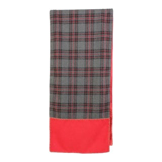 Plaid Wool Table Runner