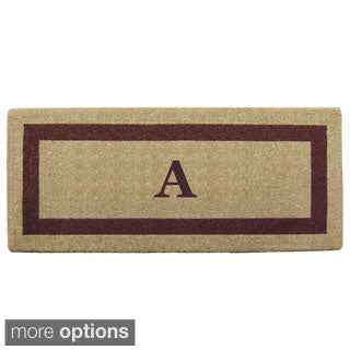 Heavy-duty Coir Single Picture Frame, Brown Monogrammed Doormat