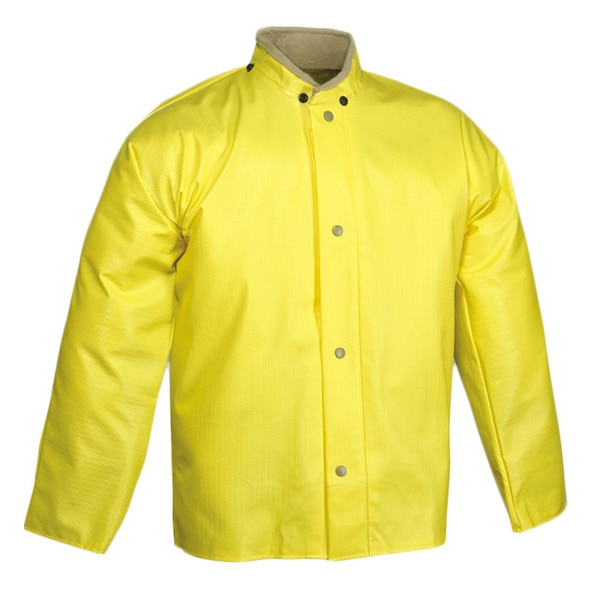 Webri Yellow Storm Fly Front Jacket
