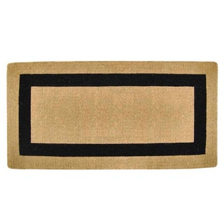 Heavy-duty Coir Single Black Picture Frame Doormat