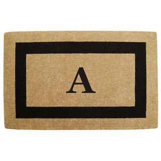 Heavy-duty Coir Single Black Picture Frame Monogrammed Doormat
