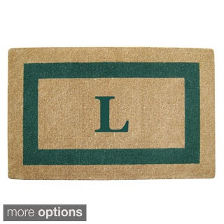 Heavy-duty Coir Single Green Picture Frame Monogrammed Doormat