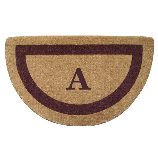 Heavy Duty Coir Monogrammed Brown Door Mat