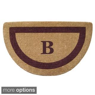 Heavy Duty Coir Monogrammed Brown Door Mat