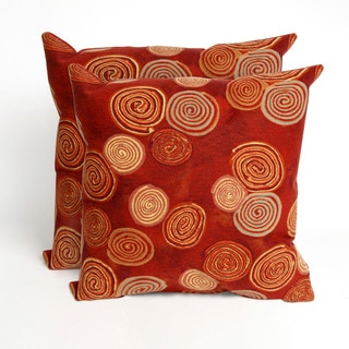 Swirls Maya 20-inch Decorative Pillows (Set of 2)