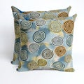 Swirls Seascape 20-inch Decorative Pillows (Set of 2)