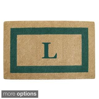 Heavy Duty Coir Green Monogrammed Frame Door Mat
