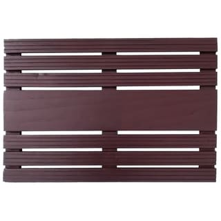 Teak Black Door Mat
