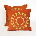 Lace Spiral 20-inch Decorative Pillows (Set of 2)