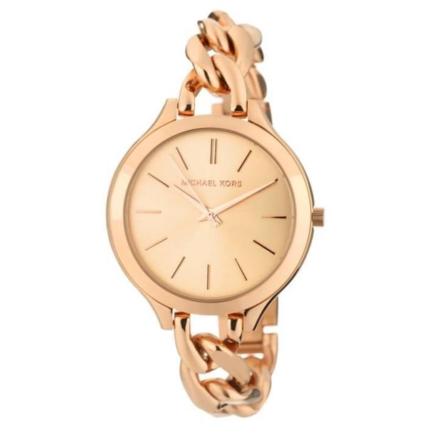 Michael Kors Women's MK3223 'Runway' Rose Gold-Plated Stainless Steel Watch